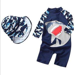 Shark Toddler Boy One Piece Swimwear Size 2/3